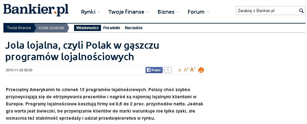 Jola lojalna, czyli Polak w gąszczu programów lojalnościowych