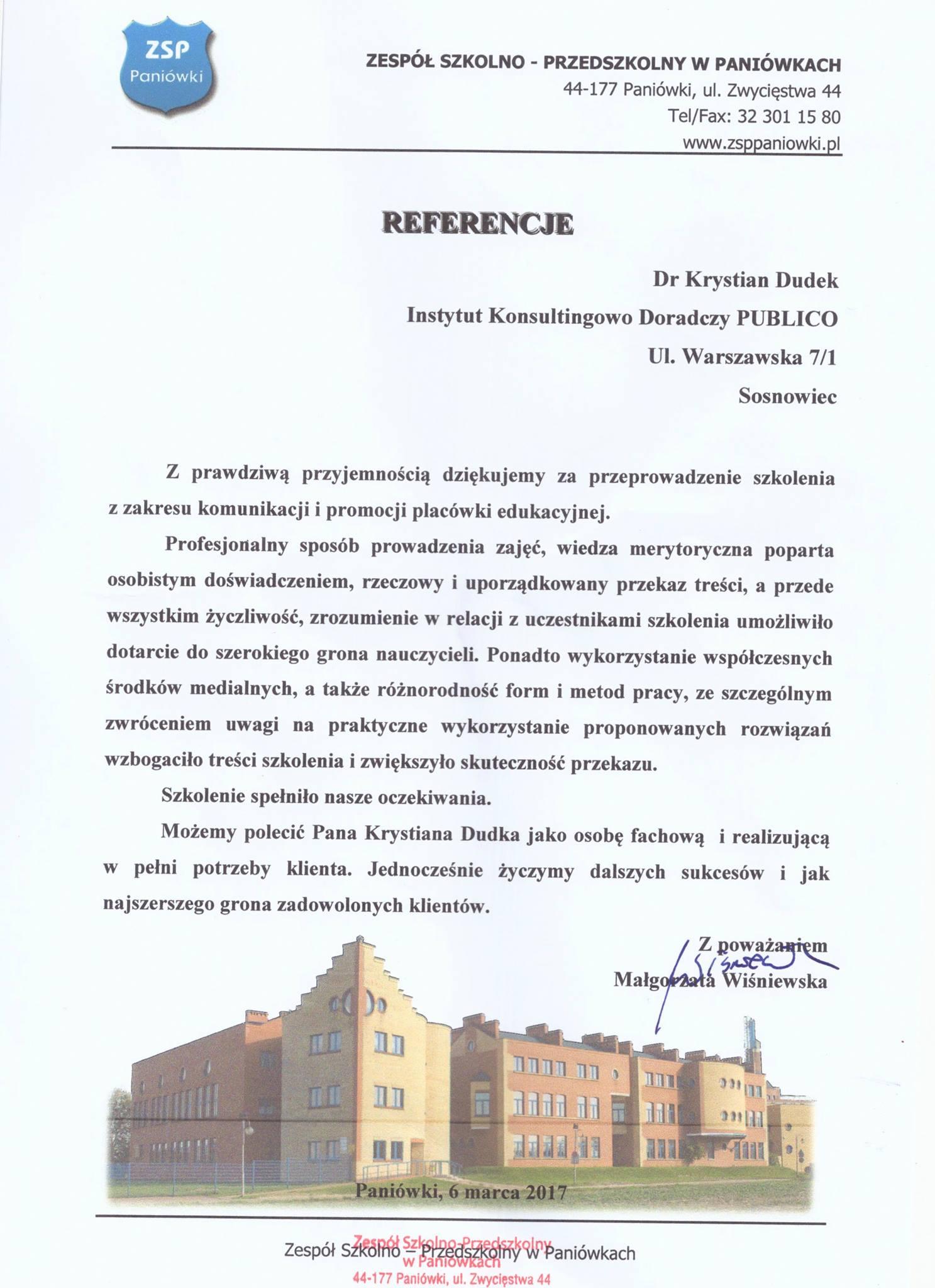 referencje Paniówki